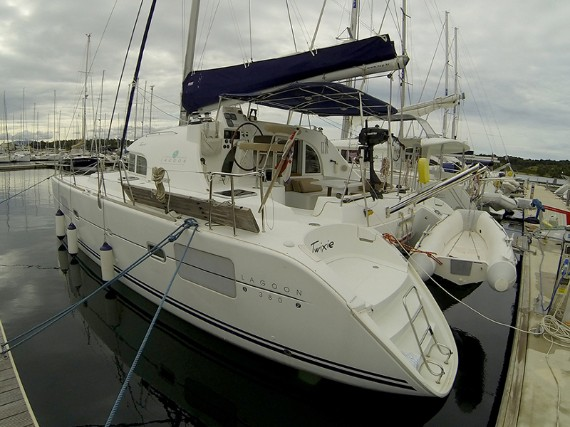 Bareboat Catamaran Lagoon 380 S2 Twixie (Sails 2013, Solar panel) - For Charter - Details