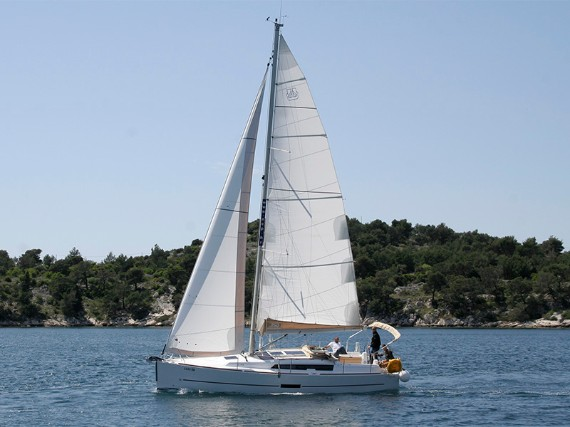 Bareboat Sail boat Dufour 350 GL Luka (webasto, solar panel, additional water tank, shallow draft) - FOR RENT - Details