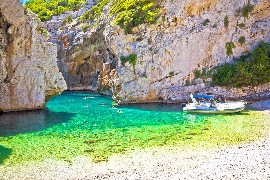 Stiniva beach on Vis island